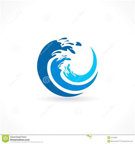 wave pattern logo water wave splash icon stock image ryans pool company