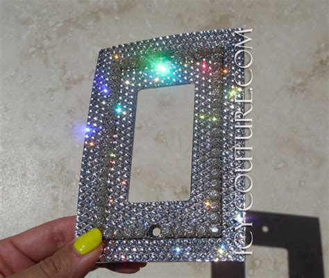 custom light switch covers single rocker style bling light switch plate cover with 3d