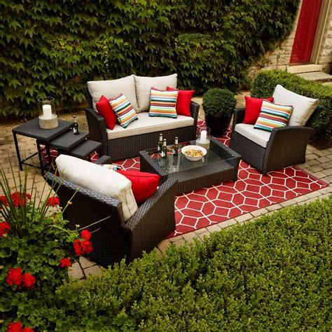 shop allen roth piedmont  piece patio conversation set