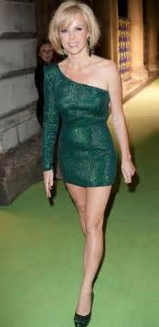 Amanda holden launches skrek looking sexy in short ariella green dress
