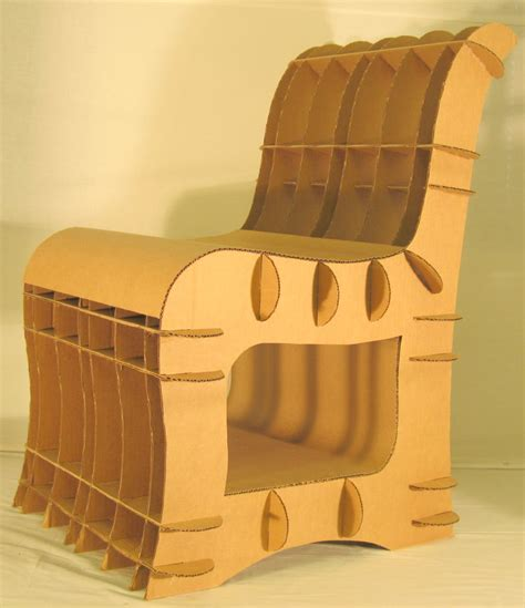 Contemporary Livingroom Cardboard Chair