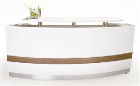 White Curved Reception Desk Arc White Gloss Curved Reception Desk Fast Office Furniture