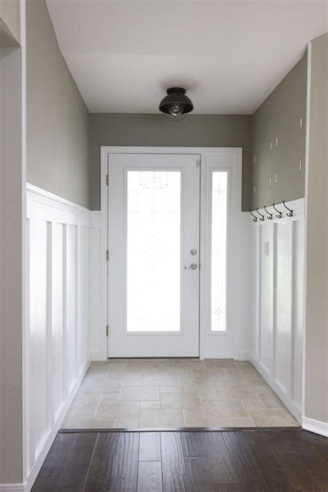 foyer wainscoting design ideas building a home remodeling foyer board batten reveal