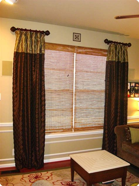 room curtain rods before and after a drape redo from thrifty decor