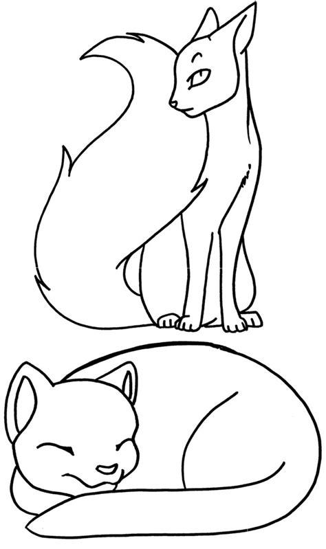 Two Warrior Cat Coloring Pages   coloringsuite.com