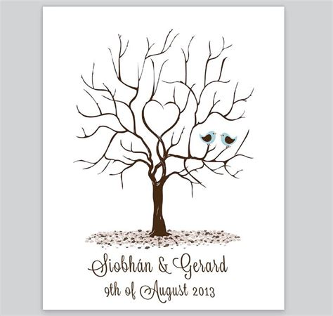 print tree fingerprint tree design 4 loving invitations