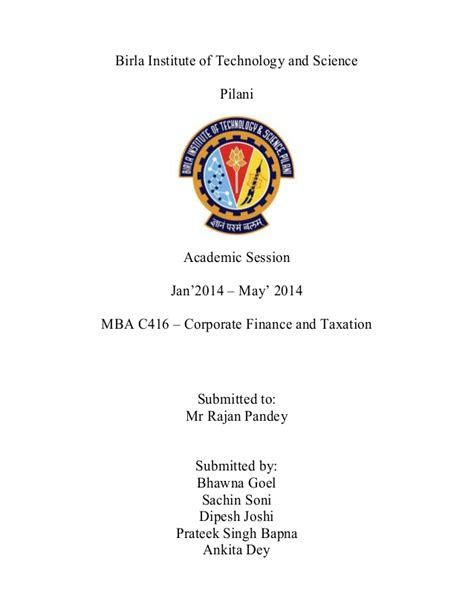 Uf Mba Ta Session by Cft Assignment 23 Apr 2014 Bits Mba