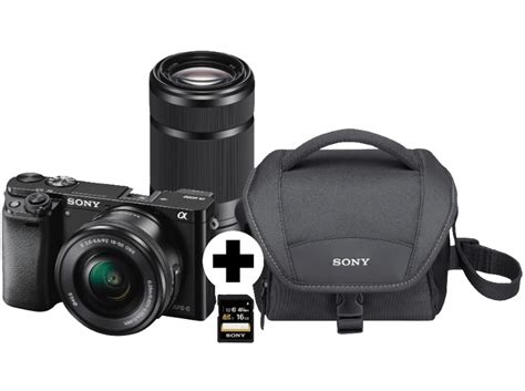 Sony A 6000 sony alpha 6000 2 objektive 16 50 mm und 55 210 mm