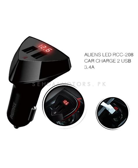 Dual Usb Car Charger Led Display 2 4a Charger Mobil buy remax aliens led dual usb car charger with voltage