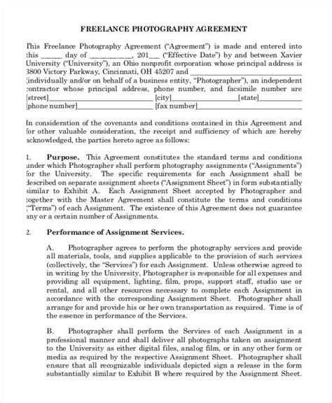 freelance contract agreement template 13 sle freelance contract templates free sle