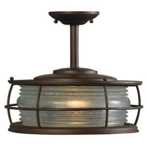 Hton Bay Outdoor Lighting Fixtures Hton Bay 12 Quot Harbor Outdoor Copper Convertible Flush Mount Light 317839 New Ebay