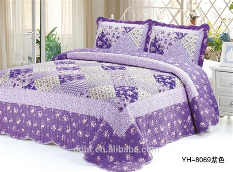 purple flower tartan patchwork quilts patchwork