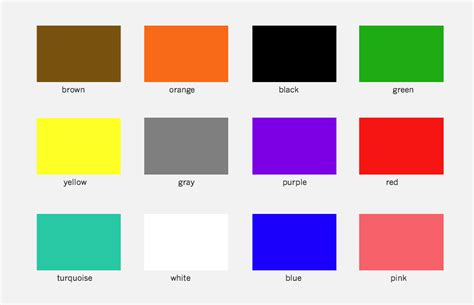unique color names unique color names uncommon color names classy unique