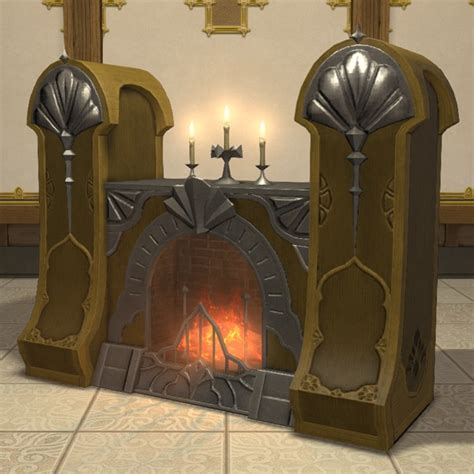 deluxe manor fireplace ffxiv housing furnishing