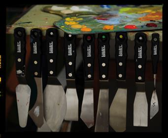 spray paint palette knife liquitex professional knives designed with artists