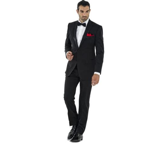 Suit Tie A G black suit formal wedding suits for jacket bow
