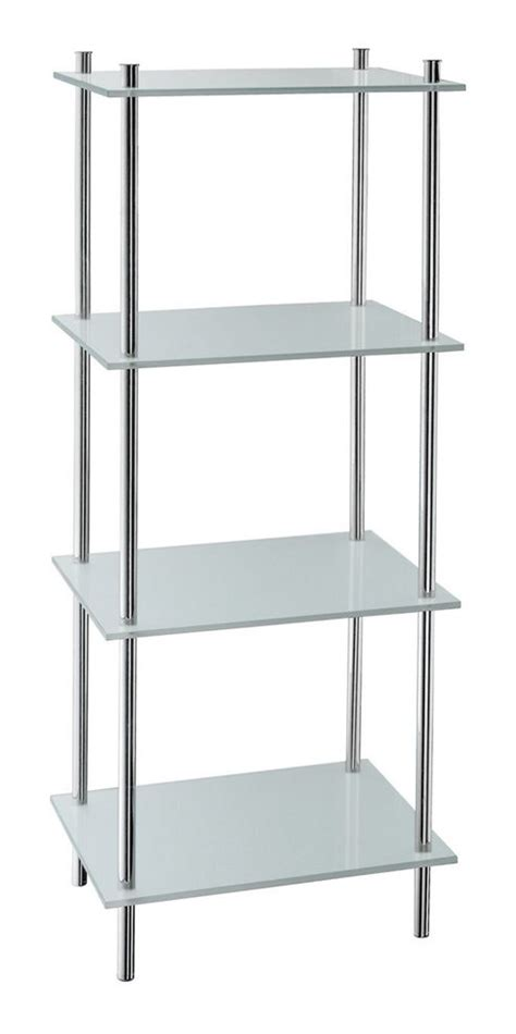 Buy Smedbo Outline Free Standing Bathroom Shelf In Frosted Free Standing Shelves For Bathroom