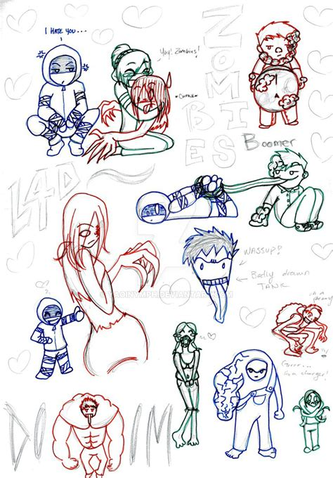 doodle zombies doodles by yaoinymph on deviantart