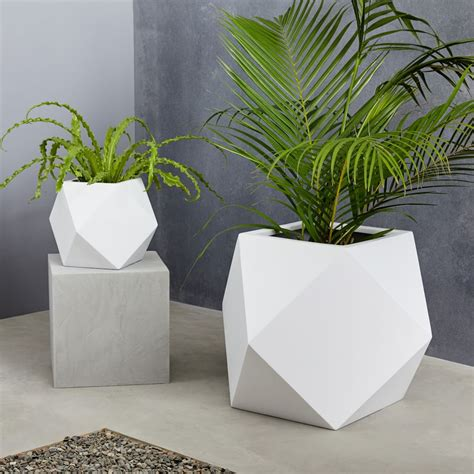 faceted modern planters west elm canada