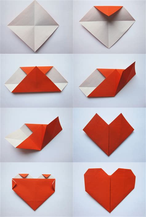 Membuat Kolase Dari Kertas Lipat | cara membuat origami heart hati atau love bisnis dan