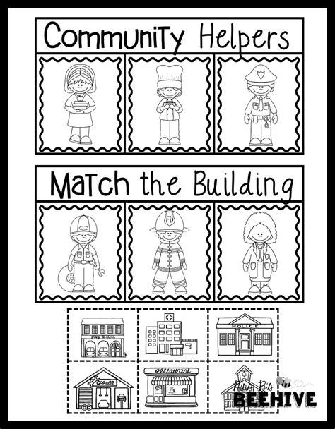 kindergarten activities social studies 16 best images of community helpers worksheets for