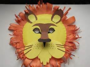 How To Make A Paper Plate Mask - craft animal paper plate masks