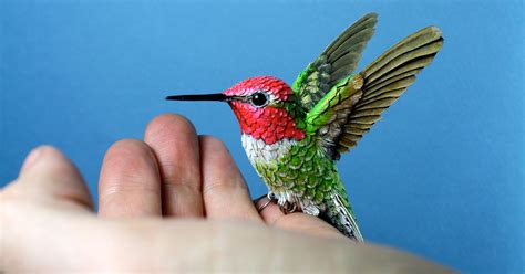 Handmade Paper Birds - handmade wood paper birds by zack mclaughlin colossal