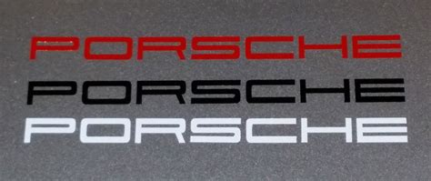 Porsche Calipers Vinyl Stickers White / Red / Black