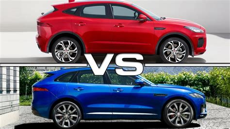 2018 jaguar e pace vs 2017 jaguar f pace
