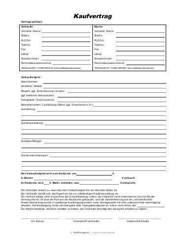 Motorrad Kaufvertrag Mit Anzahlung by Kaufvertrag F 252 R Baumaschinen