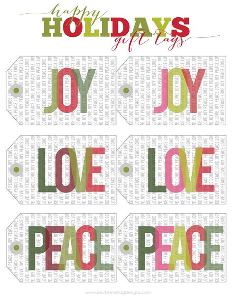 printable gift tags on pinterest christmas holiday free printable gift tags