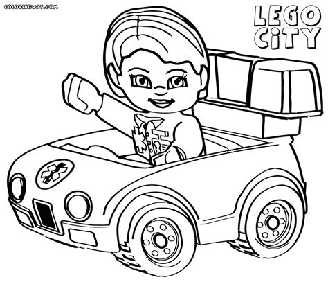 girl car coloring page lego city coloring pages coloring pages to download and