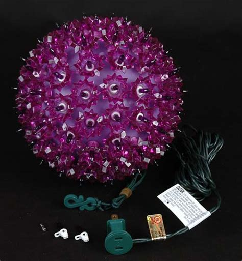 7 5 quot starlight sphere 100 light purple christmas lighted ball