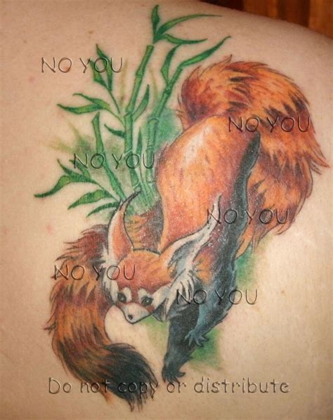 panda tattoo art red panda tattoo by citrusvision on deviantart
