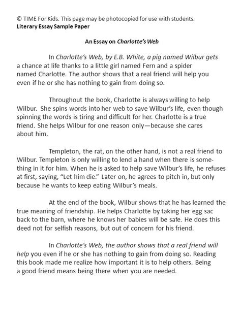charlottes web book report an essay on charlotte s web ppt