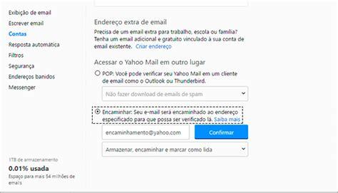 mail yahoo brasil como configurar encaminhamento ou redirecionamento de e