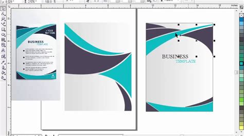 corel draw templates for brochures brochure design with coreldraw 11 tutorial in urdu part 2