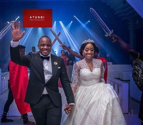 Mr And Mrs Nwogu Grand Nigerian Wedding Reception Entrance