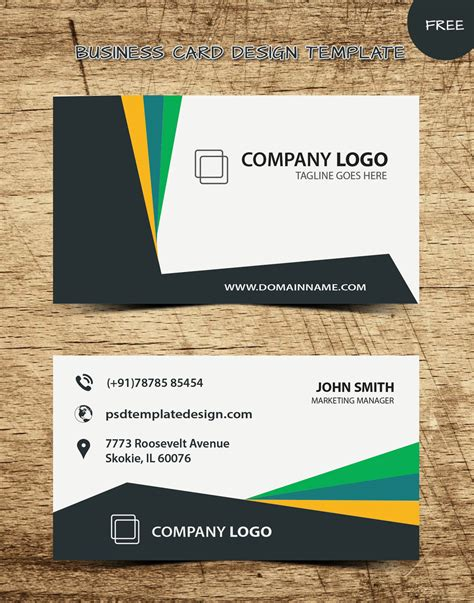 network business card templates free new business card templates