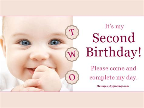 2nd birthday invitation card template 2nd birthday invitations and wording 365greetings