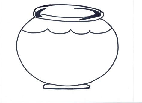 coloring page fish bowl empty fish bowl clipart clipart suggest