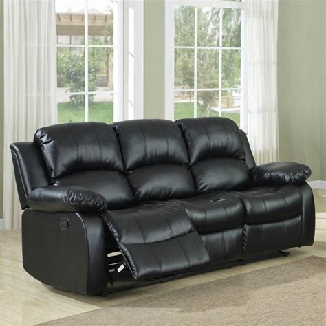 leather sectional with recliner and sleeper furniture faux dark brown leather reclining sectional