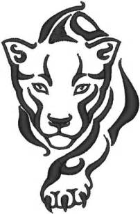 stalking panther embroidery design