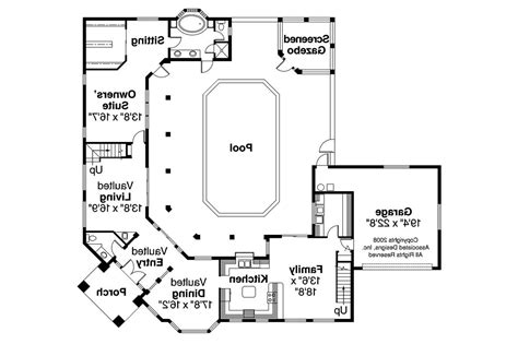 Southwest House Plans With Courtyard by Southwest House Plans 11 035 Associated Designs