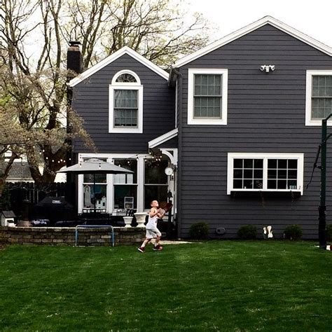 houses painted gray house color charcoal with white trim outdoor spaces