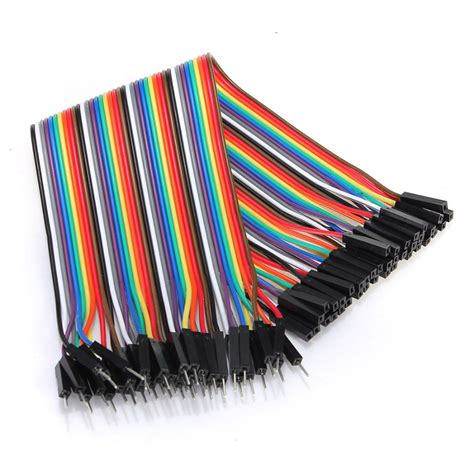 Jumper Cable 20cm dupont wire color jumper cable 2 54mm 1p 1p to