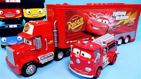 lighting mcqueen and mack cars disney cars mack truck lightning mcqueen de