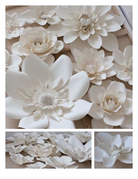 Make Large Paper Flowers - large paper flowers set of 12 various size