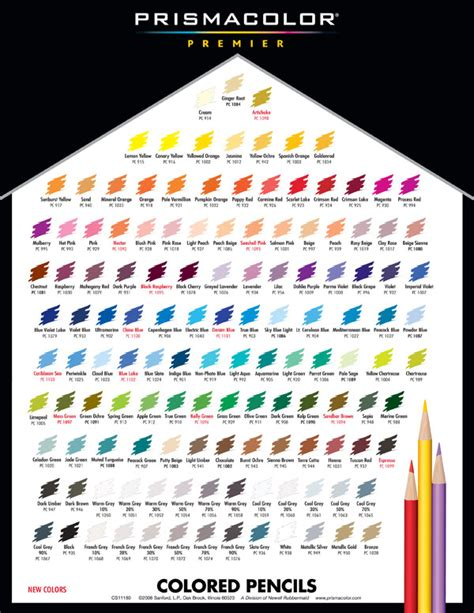 prismacolor color chart prisma pencils color chart aspx