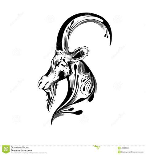 tribal goat head stock vector image of beautiful black
